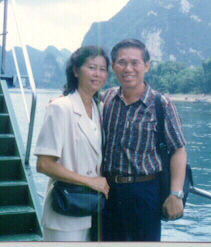 Sifu Wong and his loving wife while holidaying in China