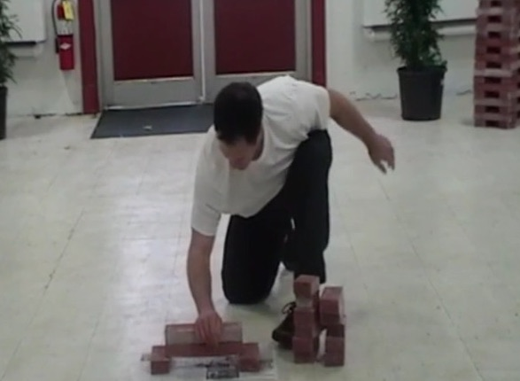 breaking the bottom brick