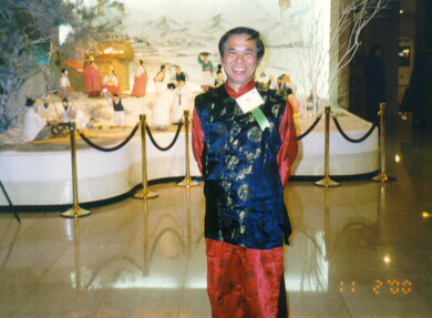 Sifu Wong in traditional Chinese dress