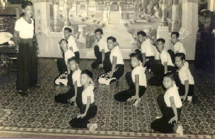 Sifu Wong as a small boy