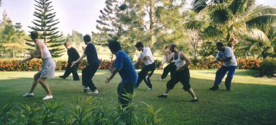 Kungfu training with Sifu Wong